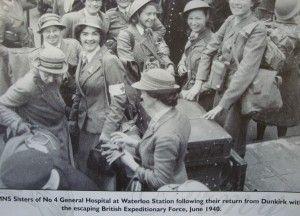 Queen Alexandra nurses photographed on their return from Dunkirk (Operation Dynamo/British nurses)