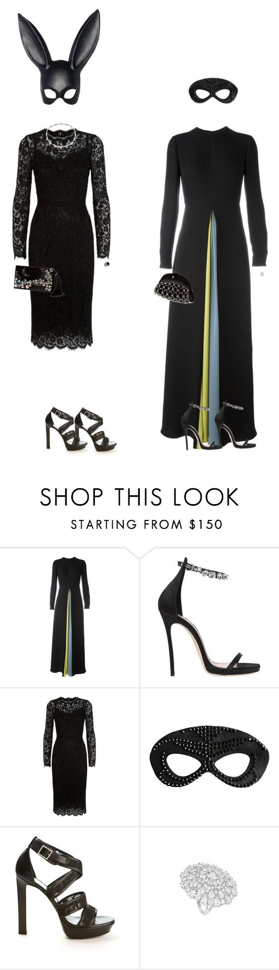 """Geen titel #11878"" by thomasj93 ❤ liked on Polyvore featuring Valentino, Dsquared2, Masquerade, Dolce&Gabbana, Heather Huey, Giorgio Armani, Yves Saint Laurent and de Grisogono"