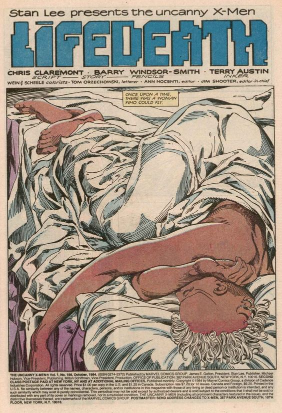 "Uncanny X-Men #186 ""Lifedeath"" by  Barry Windsor-Smith & Terry Austin"