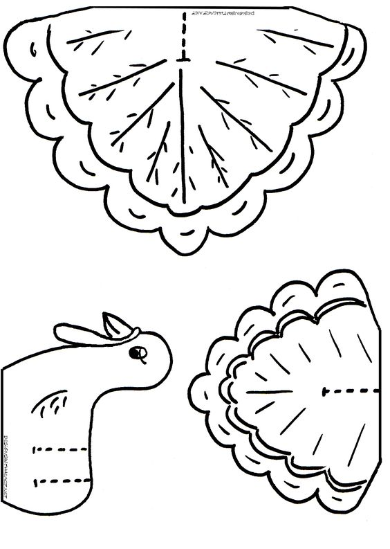 Turkey Coloring Cutouts For Kids