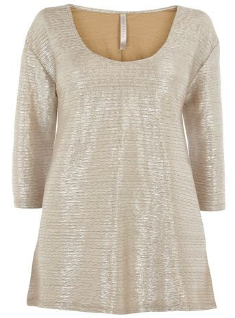 COLLECTION GOLD FOIL TUNIC