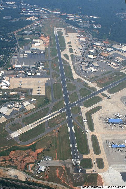 Awesome aerial view of Charlotte Douglas International Airport @ http://www.airport-technology.com/projects/charlottedouglasinte/