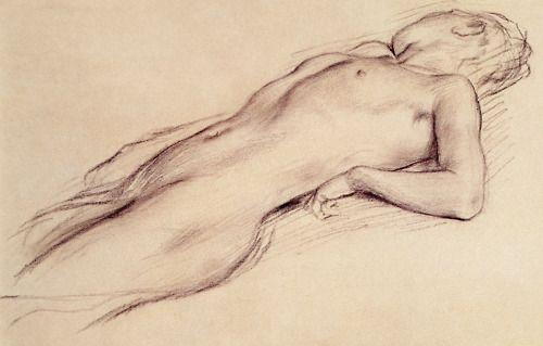 Edgar Degas, Femme nue etendue