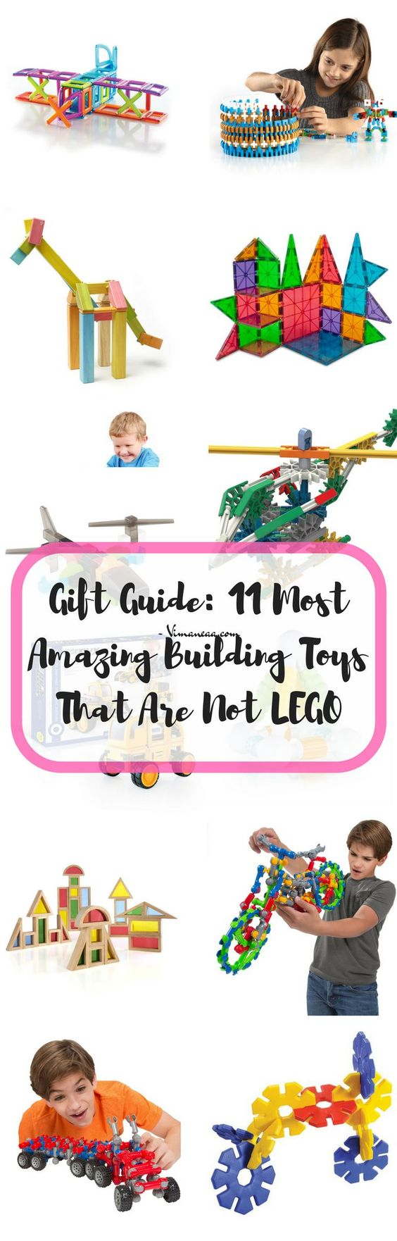 Gift Guide: 11 Most Amazing Building Toys That Are Not LEGO; Building blocks, preschool, gift ideas for toddlers, gift ideas for kids, gift ideas for preschoolers, Magnetic building blocks, building toys, stacking toys, STEM TOYS, STEAM toys, Sensory Play