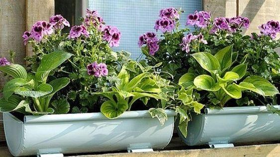 Gouttiere bac fleurs pour balcon les goutti res d tourn es pinterest - Gouttiere pour balcon ...