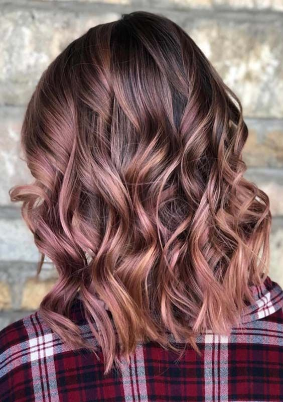 29 Trendy Rose Brown Hair Color Ideas For 2018 With Images