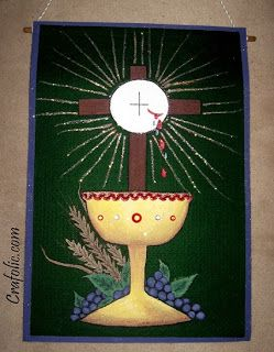 First communion banner number 2 catholic inspired for First communion craft ideas