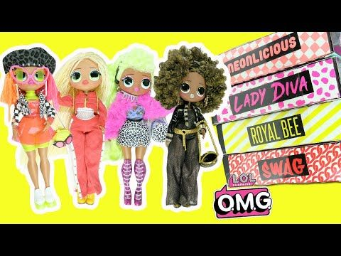 Lol Surprise Omg Fashion Dolls Complete Set Opening Royal Bee Neonlicious Lady Diva Swag Toys Youtube Lol Dolls Lol Fashion Dolls