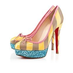 Christian Louboutin  Foraine 140mm Platforms Yellow/Stone