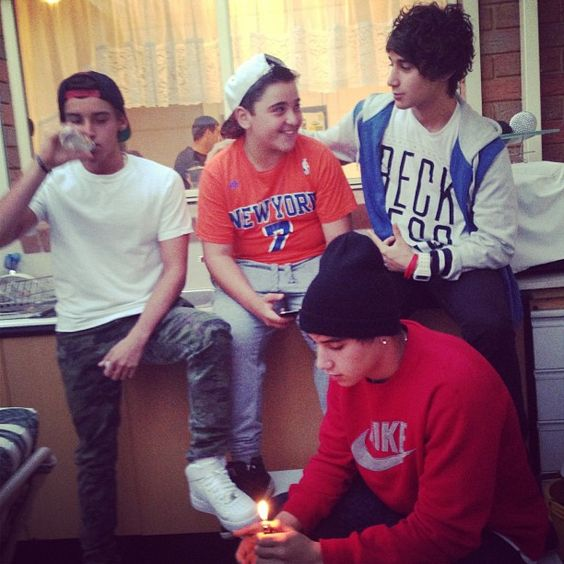 Beau, Jai & Luke with their cousin Anthony