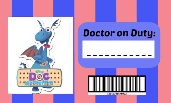 Doc Mcstuffins Doctors badge (boy)......I personally didn't find any boy Doc Macstuffins badge so I decided to make one based on the girl one. Since I got the girl one for free from here I decided to share this one:)