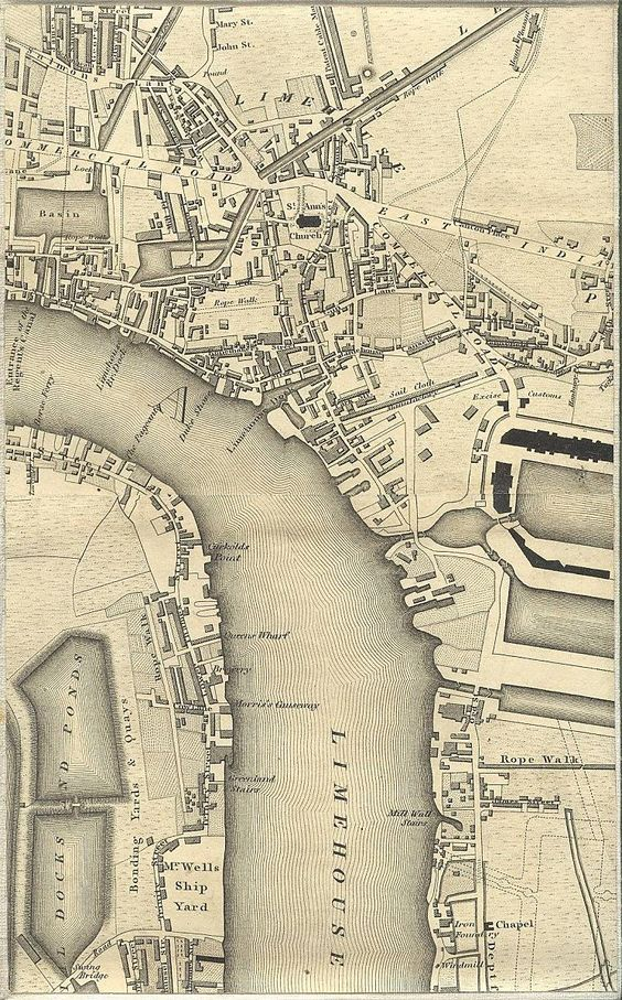 Limehouse Greenwoods Map of London 1827 map london uk – Map of London Uk