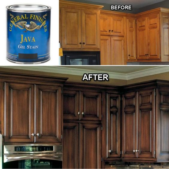 Kitchen Cabinet Restaining: Pin By Lauren Breland On For The Home