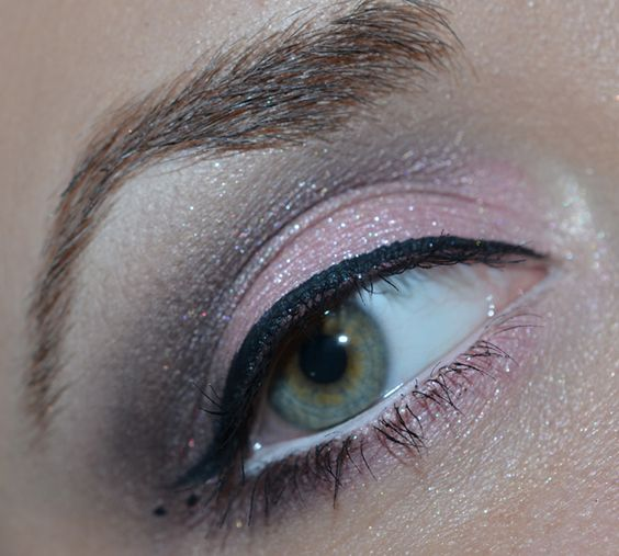 brown and soft pink makeup