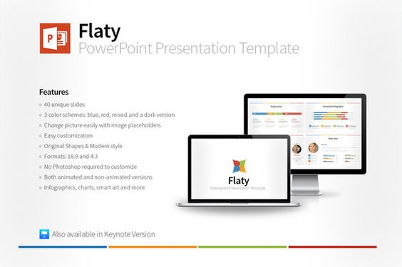 Flaty PowerPoint Template - animated power point template