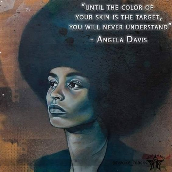 4x6 In Postcard Angela Davis Inspirational Quote Empowering Women