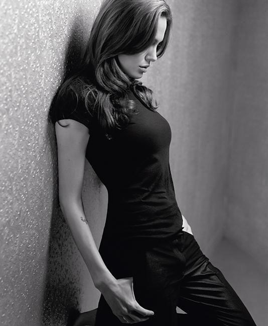 Angelina--black on black