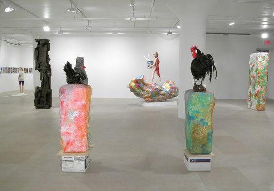 """Rachel Harrison - installation view """"If I Did It"""", Greene Naftali, New York, 2007."""