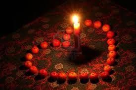bougies coeur -