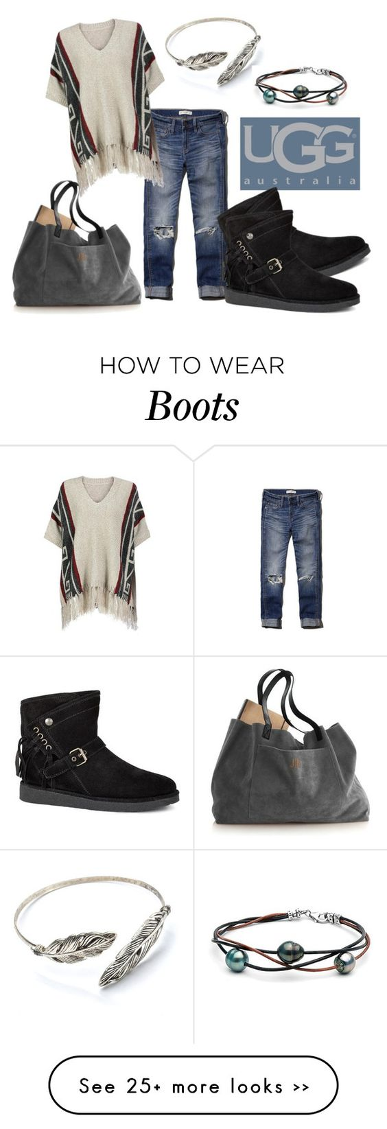 """Boot Remix with UGG : Contest Entry"" by reenie67 on Polyvore featuring Abercrombie & Fitch and UGG Australia"