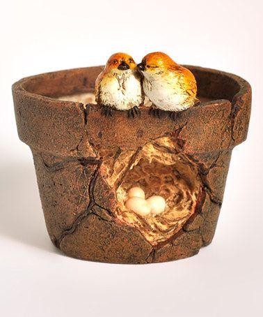 Another great find on #zulily! Lover Birds & Nest Flower Pot #zulilyfinds