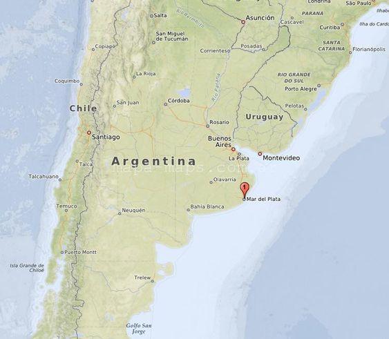 Mapa De Mar Del Plata Mar Del Plata Mapas Mapa De Argentina