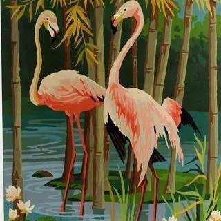 Flamingoes Painting