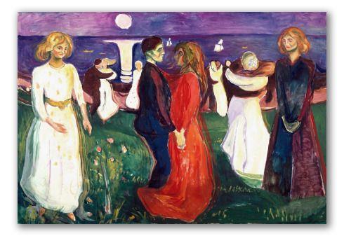 """Cuadro """"El baile de la vida"""" de Munch, expresionismo moderno ..."""