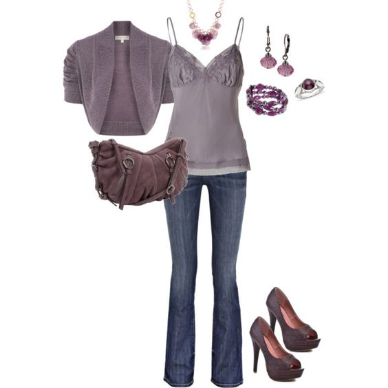 Amethyst: Nice Outfit, Clothes 2012, Beautiful Colors, Holiday Outfit, Fall Outfit, Style Fashion Jewelry, Color Outfit, Grey Purple