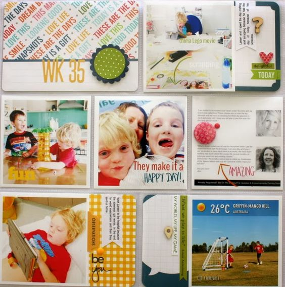 week 35 let side by @Kim Jeffress Love the all of it! Especially the title card and the top right hand corner card.