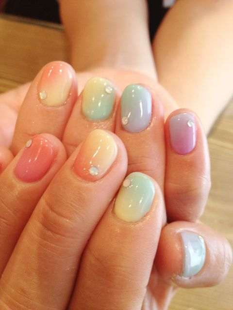 Rainbows Pastel And Nails On Pinterest