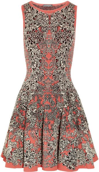Flared Barnacle Intarsia Dress