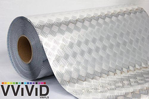 Industrial Utility Diamond Plate Metallic Chrome Finish Vinyl Wrap Underlayer Contact Paper Adhesive Roll For Shelves Walls Flooring 17 8 X 10ft Home Liv Diy Contact Paper Floor Diamond Plate Vinyl Wrap