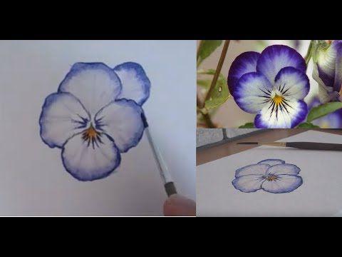 Demo Peindre Une Pensee A L Aquarelle Youtube En 2020