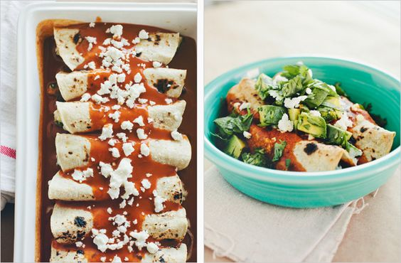 ROASTED ZUCCHINI, BLACK BEAN + GOAT CHEESEENCHILADAS - SPROUTED KITCHEN - A Tastier Take on Whole Foods