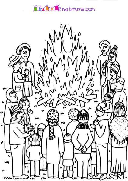 Pinterest The World S Catalog Of Ideas Bonfire Colouring Pages