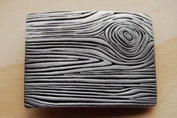 Pewter Woodgrain Belt Buckle  by fisforfrank on Etsy