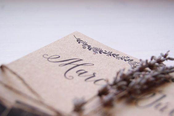 Disseny invitació casament Rústic