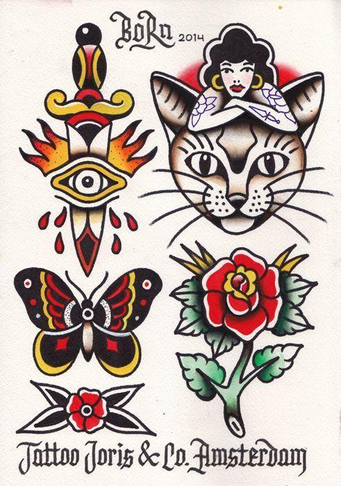 Desenhos De Tattoo Old School Inspiracoes Flash Tattoo Que As