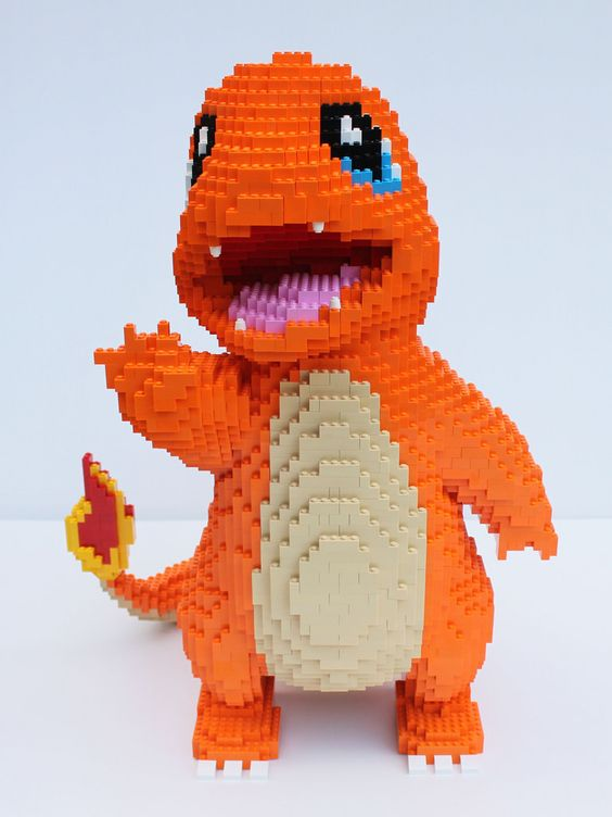 """LEGO Charmander"" by dm_meister: Pimped from Flickr:"
