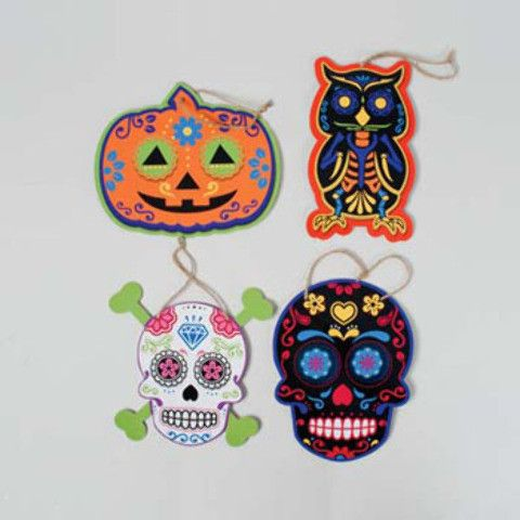 wall plaques day of dead prints Case of 48