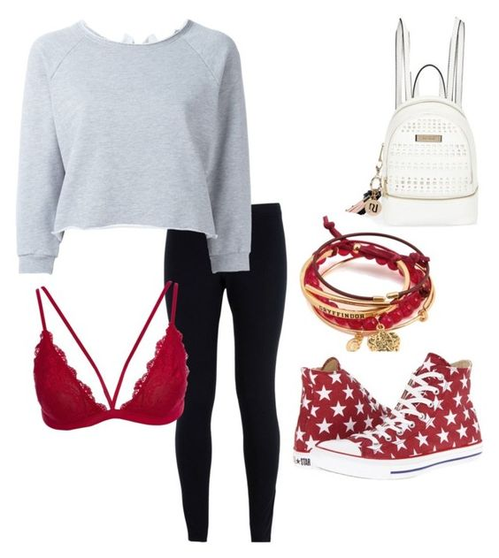 """""""Untitled #10"""" by naja-pown ❤ liked on Polyvore featuring NIKE, GaÃ«lle Bonheur, Converse, River Island, Leggings and WardrobeStaples"""