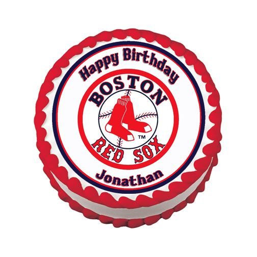 BOSTON RED SOX Birthday Edible Cake Image Topper Party