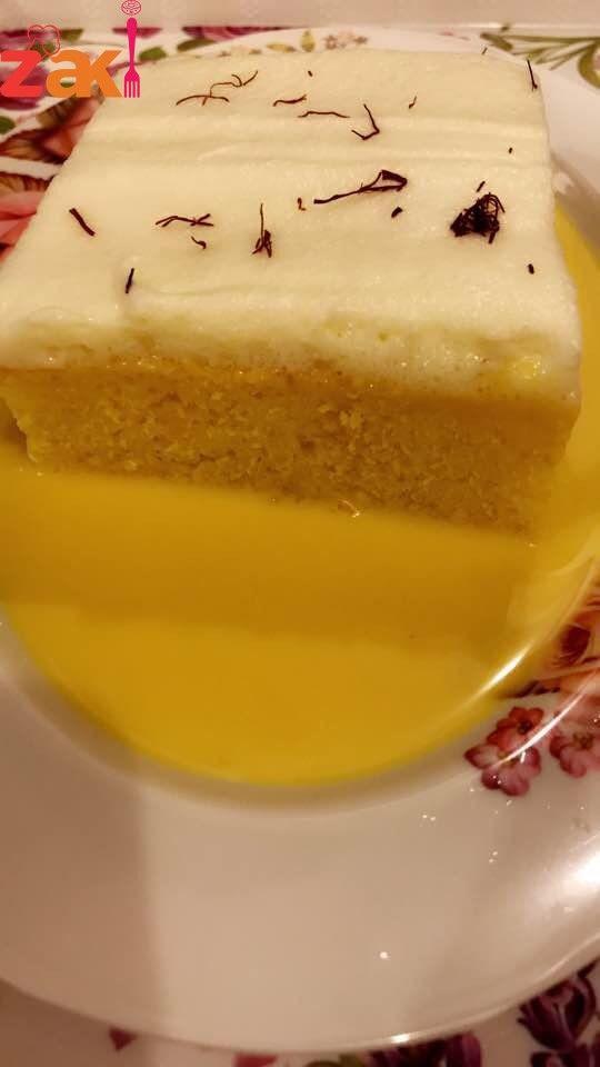 كيكة الزعفران بالحليب زاكي Sweet Cakes Arabic Food Food