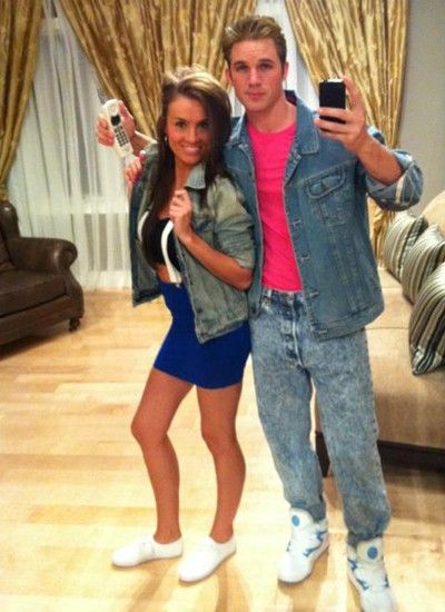Zack Morris u0026 Kelly Kapowski from Saved By the Bell  sc 1 st  Her C&us & The 19 Best Couples Halloween Costumes of All Time | Her Campus