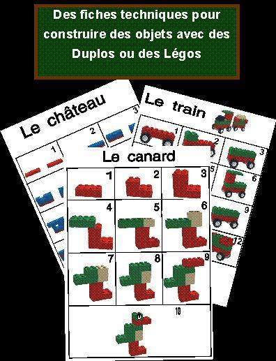 Bouwkaarten voor lego, free printable / Jeux à imprimer et à fabriquer