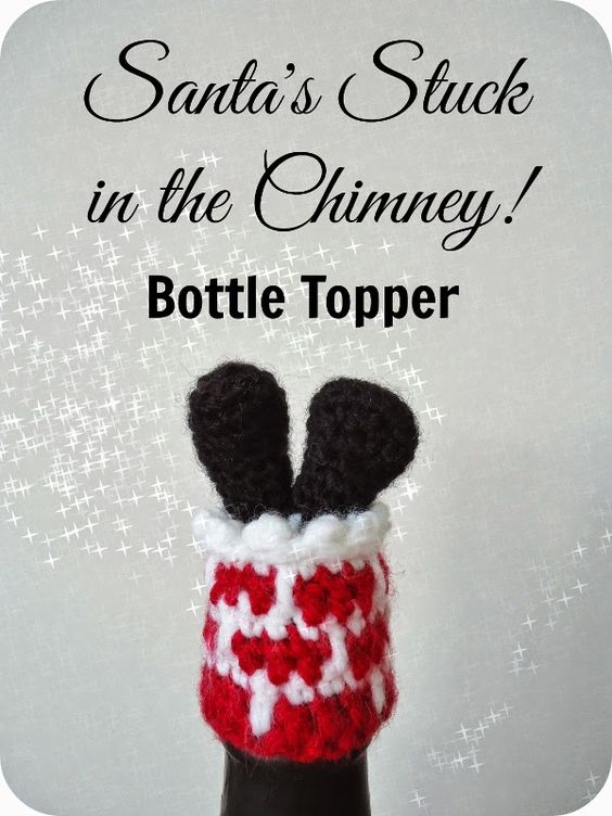 Dinki Dots Craft: Santa Bottle Topper