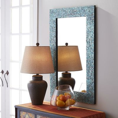 Don't need this, but it's so cute! Azure Mosaic Mirror - 24x36