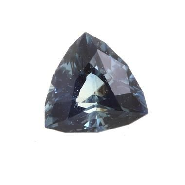 Saphir bleu non chauffé 0.49 carats