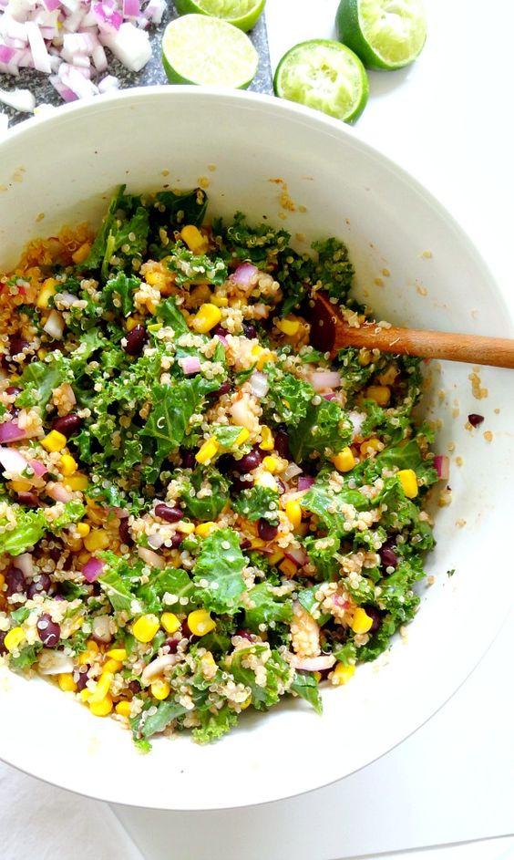 quinoa corn kale quinoa bean quinoa quinoa salad kale salad corn vegan ...